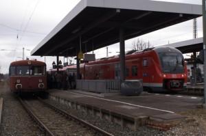 Neue Treibfahrzeuge statt alten Schienenbus, hier Bild aus Gunzenhausen